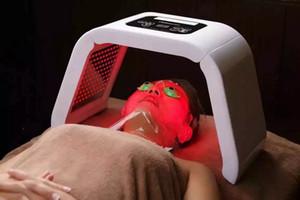 Professionale PDT Led viso Terapia Rosso Azzurro Verde Giallo 4 colori Led maschera di protezione della pelle PDT LED ringiovanimento Trattamento dell'acne