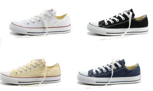 Drop shipping Haute qualité RENBEN Classique Low-Top High-Top toile Casual chaussures sneaker Hommes / Femmes chaussures en toile Taille EU35-45 détail