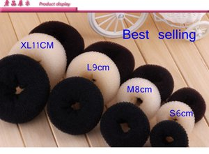 Epackfree 4pcs lot Women Lady Magic Shaper hair Donut Hair Ring Bun Accessories Styling Tool Hair Accessories