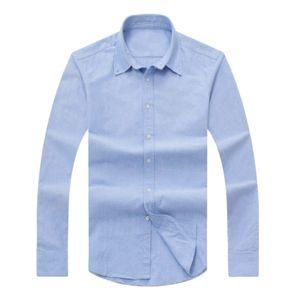 2017 yeni sonbahar ve kış erkek uzun kollu pamuklu gömlek saf erkek rahat POLOshirt moda Oxford gömlek sosyal marka giyim lar