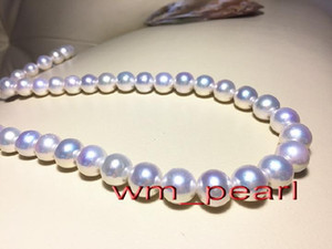 """Fine Pearls Jewelry Australia top 17""""12-14mm REAL south sea Perfect round WHITE pearl necklace 14K"""