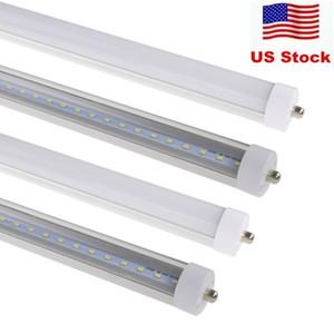 T8 FA8 단일 핀 LED 튜브 조명 8FT 45W 4500Lm SMD 2835 2400MM 8feet LED 형광등 조명 램프 85-265V 재고