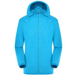 Мужчины Женщины Quick Dry туризм куртка водонепроницаемый защита от Солнца анти-УФ пальто открытый спорт кожи куртки дождь одежда Куртки