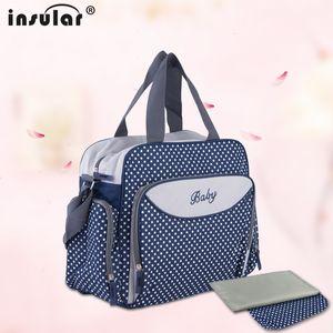 Wholesale 600D Nylon Baby Diaper Bag Large Capacity Waterproof Diaper Bag