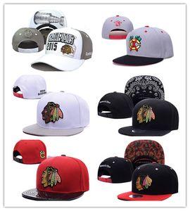 Billig Neueste Chicago Blackhawks Gorras Planas Hat Einstellbar Baseballknochen Snapback Hockey Cap Einstellbar Hiphop chapeu