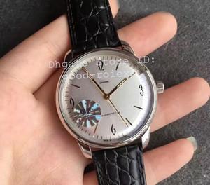 Antique Mens Movimento Automático ETA 2824 Clone Cal.39 Assista Homens Senador Sessenta Relógios De Couro Retro GF Fábrica Relógios de Relógios