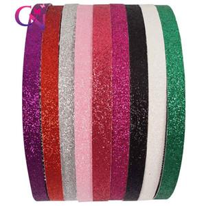 10 colori dei capelli di cristallo fascia di plastica delle fasce del Ragazze glitter Boutique denti la fascia di Natale archi dei capelli per il capretto Girl Party
