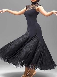 benutzerdefinierte schwarze Spitze Flamenco Kleid Spanisch Tanz Kostüm Ballroom Dance Wettbewerb Kleider Ballroom Dance Kleider Walzer Tango Dancewear