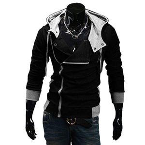 Wholesale- 2016 Fashion Hoodies Sweatshirt Zipper Cardigan Tracksuit Casual Hooded Jacket moleton Assassins Creed Fleece Slim Coat