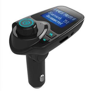 Универсальный T11 Bluetooth Беспроводной автомобиль MP3-плеер Handsfree Автомобильный комплект FM-передатчик A2DP 5V 2.1A USB Зарядное устройство ЖК-дисплей Горячие продажи