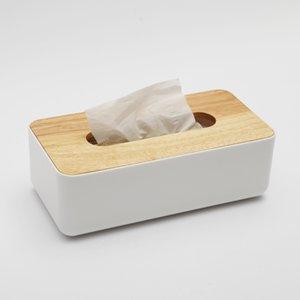 Großhandel-Holz und Kunststoff Tissue Box Mode Serviette Fall für Zimmer Auto abnehmbare Tissue Case