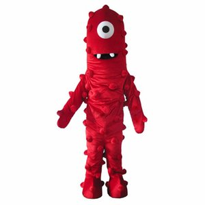 Mejor Muno traje de la mascota De Tamaño Gabba Gabba vestido Yo envío libre adulto