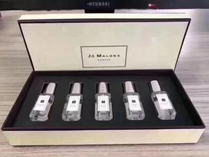 Высокое качество Perfume Set Jo Malone London 5 Ароматы Тип духи 9ml * 5шт Путешествие Размер Бесплатная доставка