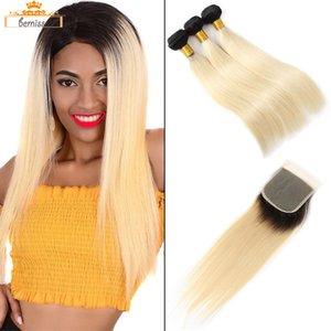 Droit avec fermeture vierge Fermeture Vendeur Bundles Hair 3 613 Selet Blonde Cheveux Humains Tissu 1b Dhgate Extensions Non traitées Brésil Fgrgs