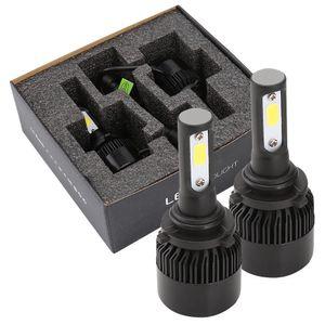 2 x 9006 HB4 9012 LED araç far kiti araba sis lambası far ampuller bir çift 'H-S