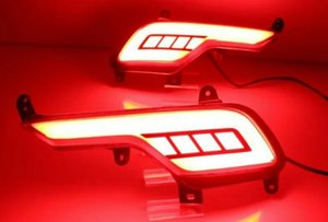 Para Hyundai Santa Fe IX45 2016 2017 Coche multifunción LED Parachoques Trasero Luz Auto Luz de Freno Luz de Señal Reflector Reflector