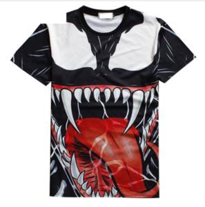 Verano más nueva moda para mujer / hombre película Venom diablo divertido 3D creativo Casual Hip Hop camiseta DXS031
