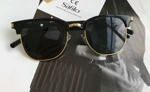 SL108 preto / prata piloto Óculos 52mm óculos Sonnenbrille para unisex Óculos de sol com caixa