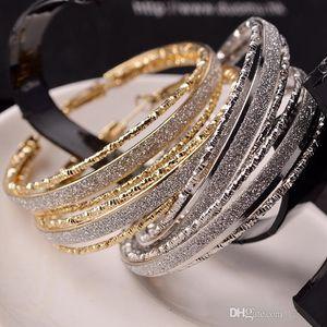 Scrub-Ohrringe für Frauen Silber Gold überzogene Ringohrring-Schmucksache-Zusatz-Weinlese-Punk Exaggeration baumeln Eardrop b300