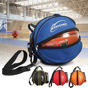 1pc Round Shape Ball Bag Basketball Calcio Volleyball Zaino tracolla regolabile tracolla zaino borsa di stoccaggio