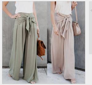 Casual pure color ladies' trouser women loose Frenulum female Casual pants loose Ventilation fashion women Broad leg pants women