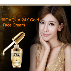 NEW BIOAQUA 24K Gold Face Cream Moisturizing 24 K Gold Day Cream Hydrating 24K Gold Essence Serum For Women Face Skin Care