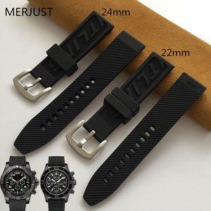 24mm 22 milímetros homens fivela pulseira Natural de alta qualidade banda senhor relógio para Pulseira / vingador / pulseira pulseira
