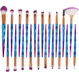 MAANGE Elmas Makyaj Fırçalar seti 20 adet Pudra Fondöten Kapatıcı Allık Göz Farı Dudak Fırça Kozmetik Makyaj Fırçalar Seti Güzellik Araçları