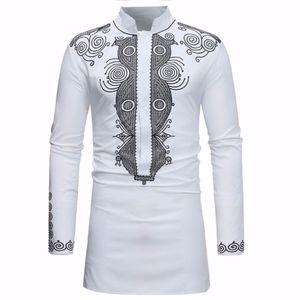 Dashiki shirt africano Homens 2020 Primavera Outono New gola camisa de manga longa Homens Roupa africano Camisas Para Hombre