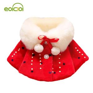 EOICIOI outono inverno meninas de algodão casacos jaqueta de manto vermelho crianças engrossar parkas de pelúcia quente outerwear bebê meninas roupas