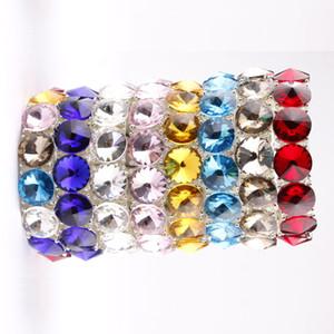 Cadeaux De Noël En Argent Plaqué Verre Cristal Dot Wrap Bracelet Extensible pour Filles et Dames Boutique Bijoux Strass Bracelets Bracelets