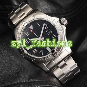 El reloj de hombre de lujo más vendido del mundo 44 mm. Dial grande. Relojes de acero inoxidable plateado. Reloj mecánico automático impermeable.