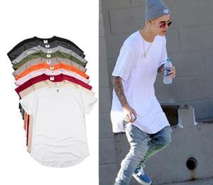 Mode hommes t shirt longline hip hop tee shirts femme justin bieber swag vêtements harajuku rock tshirt homm manches Kanye veste homme