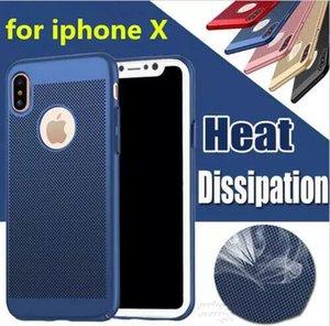Estuche de disipación de calor ultradelgado Transpirable Delgado Armadura Cubierta trasera dura Cajas de PC para Iphone X XS MAX XR 7 8 6 más