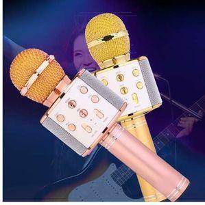 TTVXO WS-858 Microfono portatile Karaoke wireless portatile Microfono USB Bluetooth Altoparlante Microfoni per lettori musicali