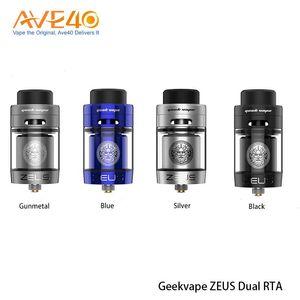 Original GeekVape Zeus Dual RTA Tank Atomizer 4ml Supports Single Dual Coil Building E-cigarette RTA Atomizer Tank