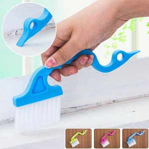 새로운 갭 창 청소 브러시 손으로 개최 그루브 화장실 에어 컨디셔닝 키보드 갭 청소 브러쉬 주방 도구 WX9 - 343