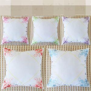 인쇄 빈 베개 케이스 폴리 에스테르 섬유 DIY의 Pillowslip 홈 섬유 레이스 쿠션 커버 비 핵심 침구 6sx BB 공급