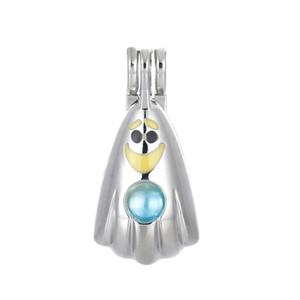 10 stücke Farbige Emaille Halloween Geist Perle Käfig Perlen Käfig Ätherisches Öl Diffusor Medaillon Anhänger DIY Schmuck machen