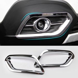 Per Buick Encore / Opel / Vauxhall Mokka 2012 2013 2014 2015 2016 Chrome nebbia anteriore della copertura della lampada della luce Trim Guarnire modanatura della struttura lunetta