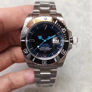 Nuevo V3 Reloj para hombre Cerámica Bisel Cristal de zafiro Asiático 2813 Acero inoxidable Corchete de acero inoxidable reloj para hombre envío gratis