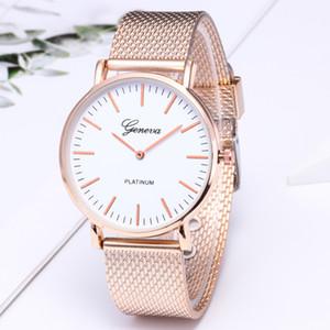 Commercio all'ingrosso 50pcs Mix 4 colori in lega di Ginevra orologio da donna Natale maglia orologio al quarzo MW028
