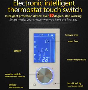 디지털 디스플레이 온도 조절기 플러시 마운트 믹서 밸브 2 가지 방법 LED 터치 스크린 컨트롤 온도 조절기 디스플레이