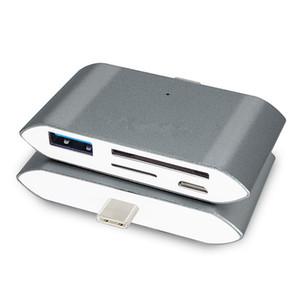 4 في 1 من النوع C-OTG USB-C قارئ بطاقة فلاش درايف متعدد البطاقات OTG Reader مايكرو SD TF TF قارئ بطاقة USB محول ل HUAWEI mate10 P20 P9