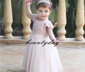 2019 nova flor menina vestidos para boho casamentos cap manga comprimento total rendas arco middle east dubai crianças primeira comunhão vestidos de aniversário