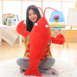 Dorimytrader 80 cm grande simulation animal homard en peluche jouet grand en peluche dessin animé écrevisse rouge oreiller de poupée pour les enfants cadeau 31 pouces DY50172