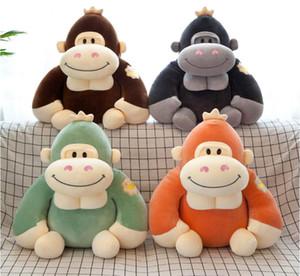 Sıcak satış Güzel Simülasyon Gorilla Maymun Yumuşak Peluş Oyuncak Dolması Hayvan Peluş Bebek Çocuk Doğum Günü Hediyesi