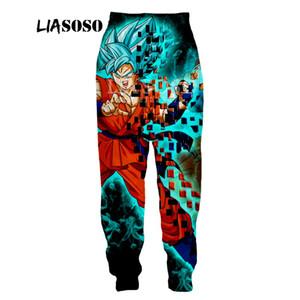 LIASOSO Nuevos hombres de las mujeres Pantalones de las mujeres 3D Imprimir Anime Goku Casual Lindo Harajuku Loose Fitness pantalones divertidos A126-7