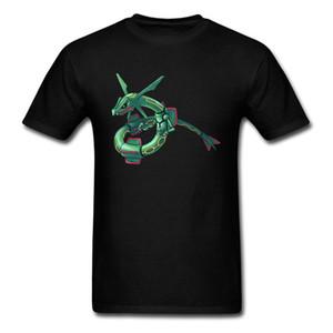 2018 Unique Design Hommes Noir T-shirt Robot De Bande Dessinée Serpent Monstre Tee Shirts Respirant Été À Manches Courtes Vêtements