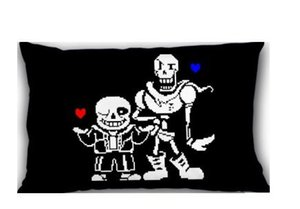 Anime Undertale Stickerbomb Bed Bath Throw Pillow Case Cover Design Luxury Printing cushion Cover Rectangle Square Pillowcase